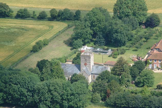All Saints Church from the air